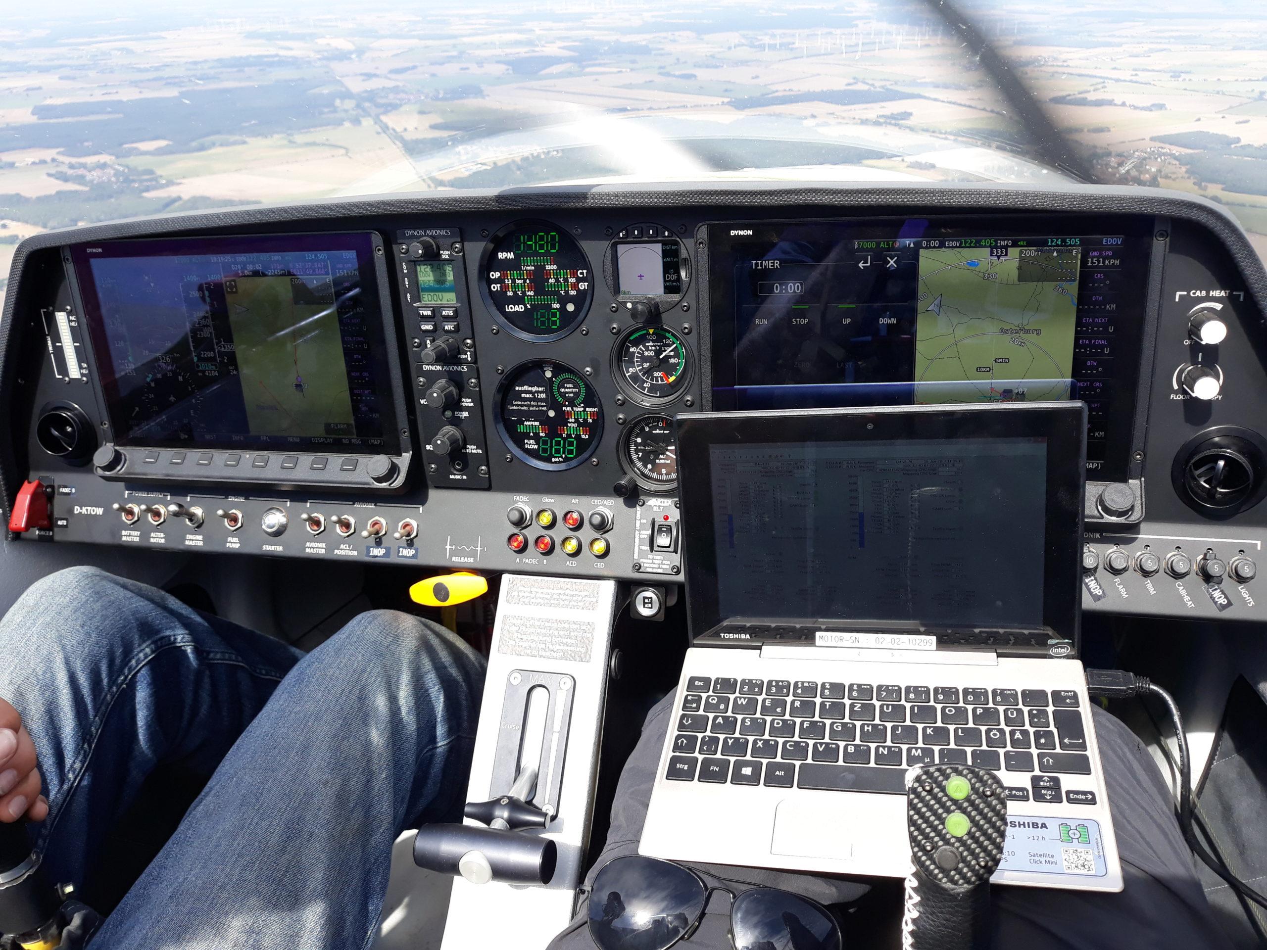 Datenerfassung im Cockpit der FS 35